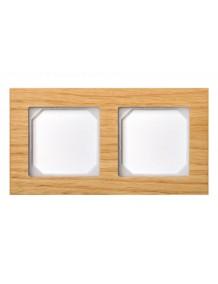 Frame, for 2 units, oak